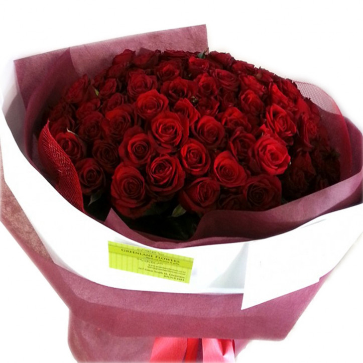 Lucky 99 Roses Bouquet Red