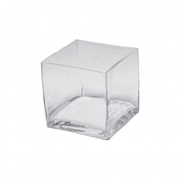 Cube Shape Glass Vase