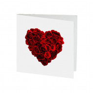 [Greeting Card] Red Roses Heart