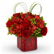 Red Hot Rose Pot (Ceramic)