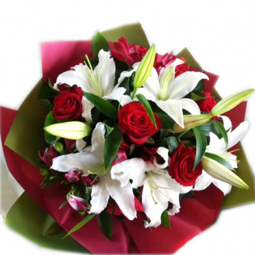 Red Rose and White Lily
