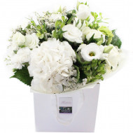 White and Green Posy